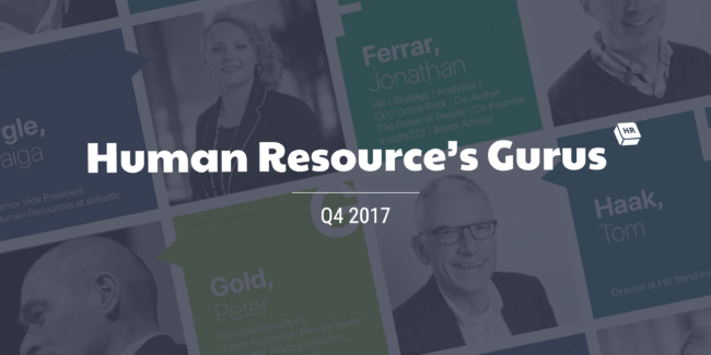 HR Gurus A-Z List: Revisiting the Current Industry Experts for Q4 2017 cakehr